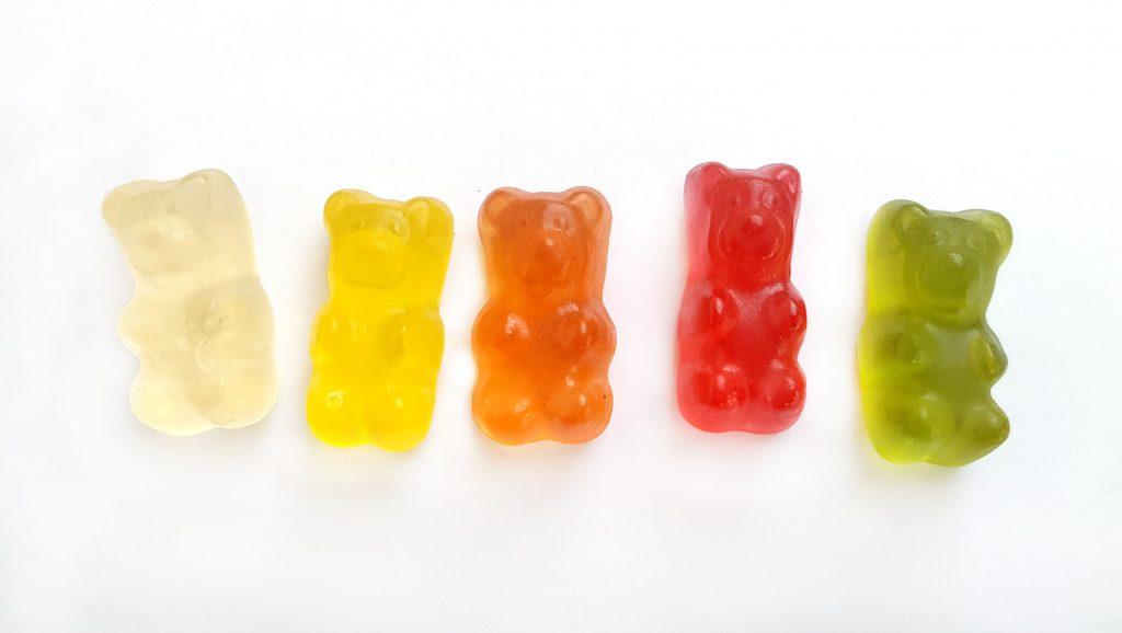5 gummy bears made using cbd oil